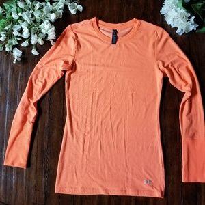 UNDER ARMOUR | Cold Gear Neon Orange Athletic Top